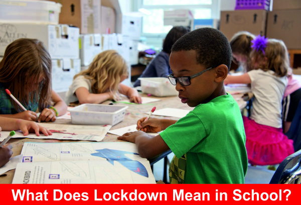 What does lockdown mean in school?